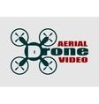 Drone r icon Aerial video text vector image vector image