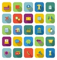 Economy color icons with long shadow vector image vector image