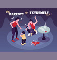 extremely toxic parents background vector image vector image