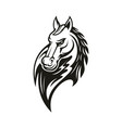 farm horse isolated head silhouette vector image