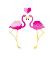 Graphics flamingo lovers vector image