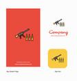guns company logo app icon and splash page design vector image vector image