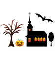 halloween set of symbols vector image