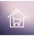 House shopping thin line icon vector image vector image