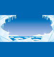 ice with icicles and snow vector image