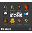 Isometric outline icons set 51 vector image vector image