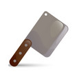 knife cleaver vector image vector image