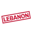 Lebanon rubber stamp vector image vector image