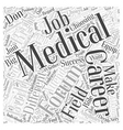 medical career forum Word Cloud Concept vector image vector image
