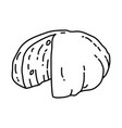 mozzarella cheese icon doodle hand drawn or vector image vector image