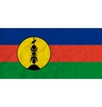 New Caledonia paper flag vector image
