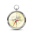 old realistic navigation compass isolated on white vector image