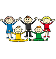olympic children vector image vector image