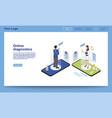 online diagnostics service isometric website vector image vector image