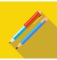 Pen and pencil icon in flat style vector image vector image
