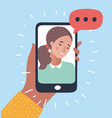 phone conversation flat vector image vector image