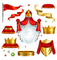 royal attributes and symbols realistic set vector image vector image