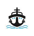 sea ship transportation logo vector image