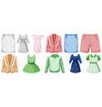 set costume objects vector image vector image