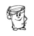 stylized image of bucket with water vector image vector image