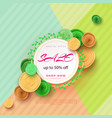 summer sale banner with paper flowers on a light vector image