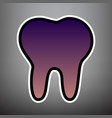 tooth sign violet gradient vector image vector image