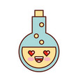 tube test with potion kawaii character vector image vector image