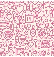 Valentines Day Love seamless pattern vector image vector image