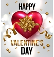Valentines greeting card design eps 10 vector image