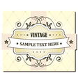vintage card vector image