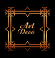 vintage geometric shape art deco retro frame vector image vector image