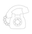 vintage telephone symbol vector image vector image