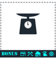 weight scale icon flat vector image vector image