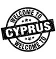 welcome to cyprus black stamp vector image vector image
