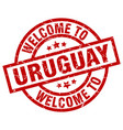 welcome to uruguay red stamp vector image vector image