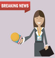 woman journalist news vector image vector image