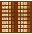 wooden game icons buttons icons interface ui vector image vector image