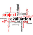 word cloud project evaluation vector image vector image