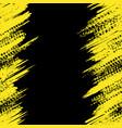 yellow tire track wallpaper vector image vector image