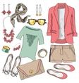 Casual women clothes collection vector image