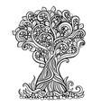 doodle art tree vector image