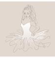 Sketch of ballerina Expressive performance girl vector image