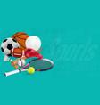 recreation leisure sports equipment vector image