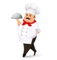 Smiling cook vector image