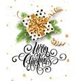merry christmas handwriting script lettering vector image