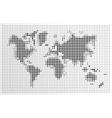 World map black dots atlas composition EPS10 file vector image