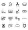 16 cable icons vector image vector image