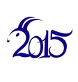 2015 new year symbol of the year vector image vector image