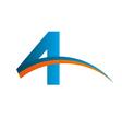 4 logo device vector image vector image