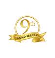 9th anniversary celebration logo vector image vector image